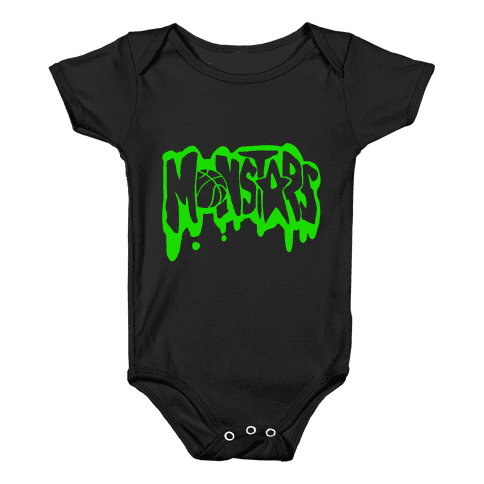 90s transparent monstars. Baby onesies lookhuman onesy