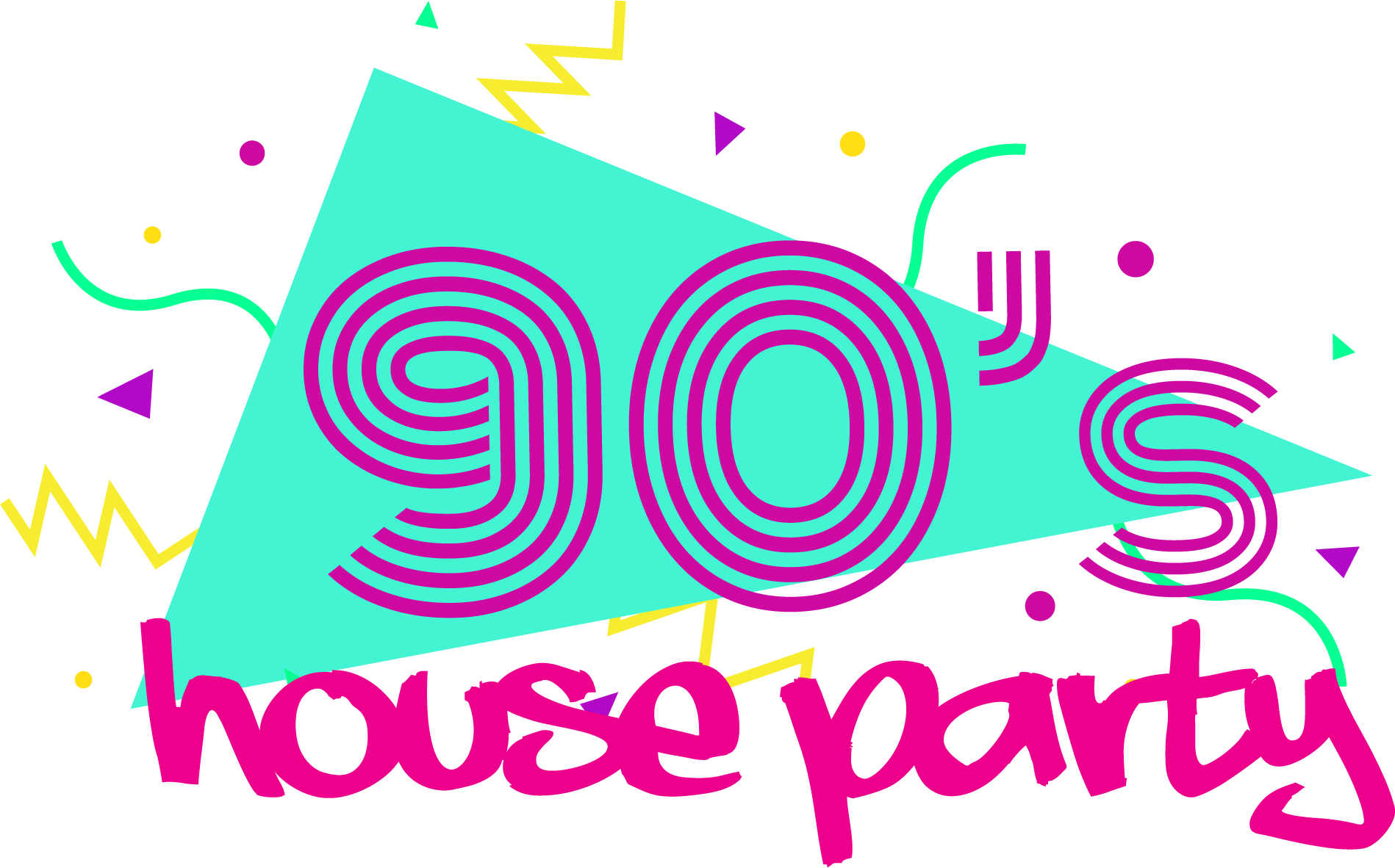 90s transparent retro. S house party