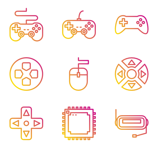 90's vector elements. Video game icon