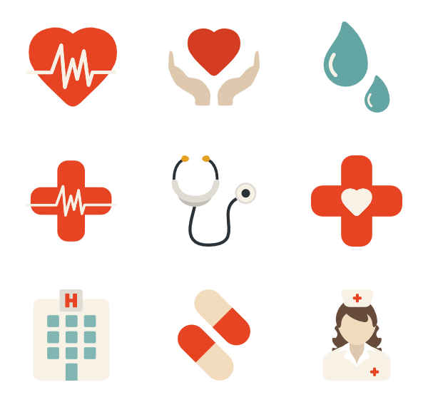 Vector office medical. Free icons designed by