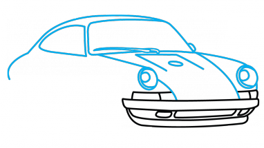 911 drawing. How to draw porsche