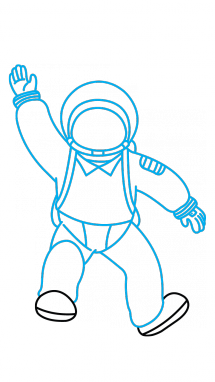 911 drawing astronaut. How to draw an
