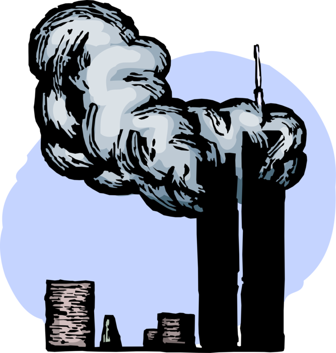 911 drawing attack. World trade center clipart