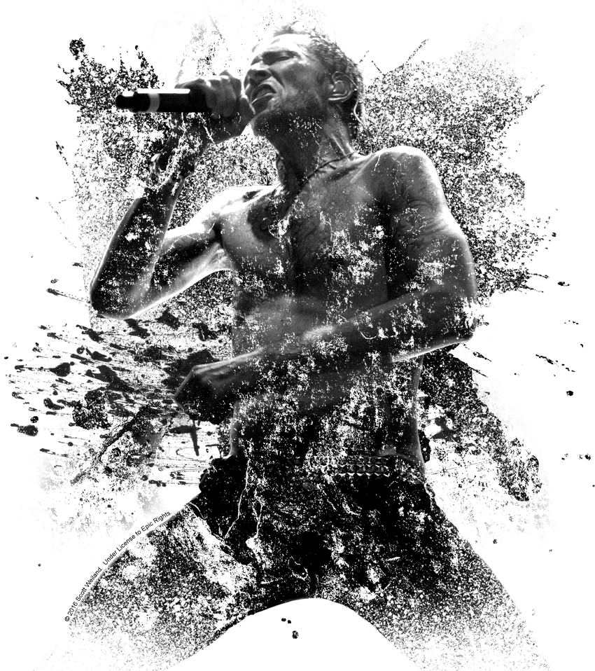 911 drawing section. Scott weiland on stage