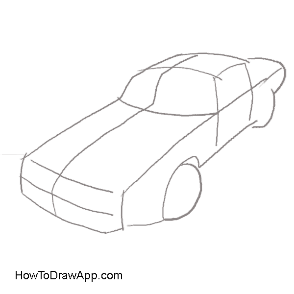 911 drawing easy. Car body at getdrawings