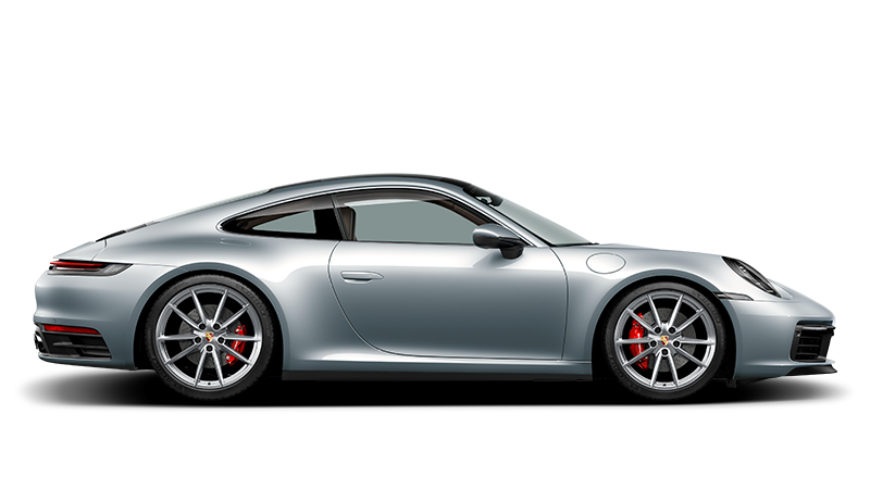 Porsche vector line drawing. The new carrera s