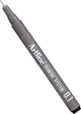 Product drawing pen. Tech pens artline