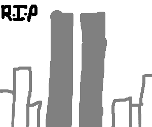 911 drawing twin tower. Towers by lazydavid