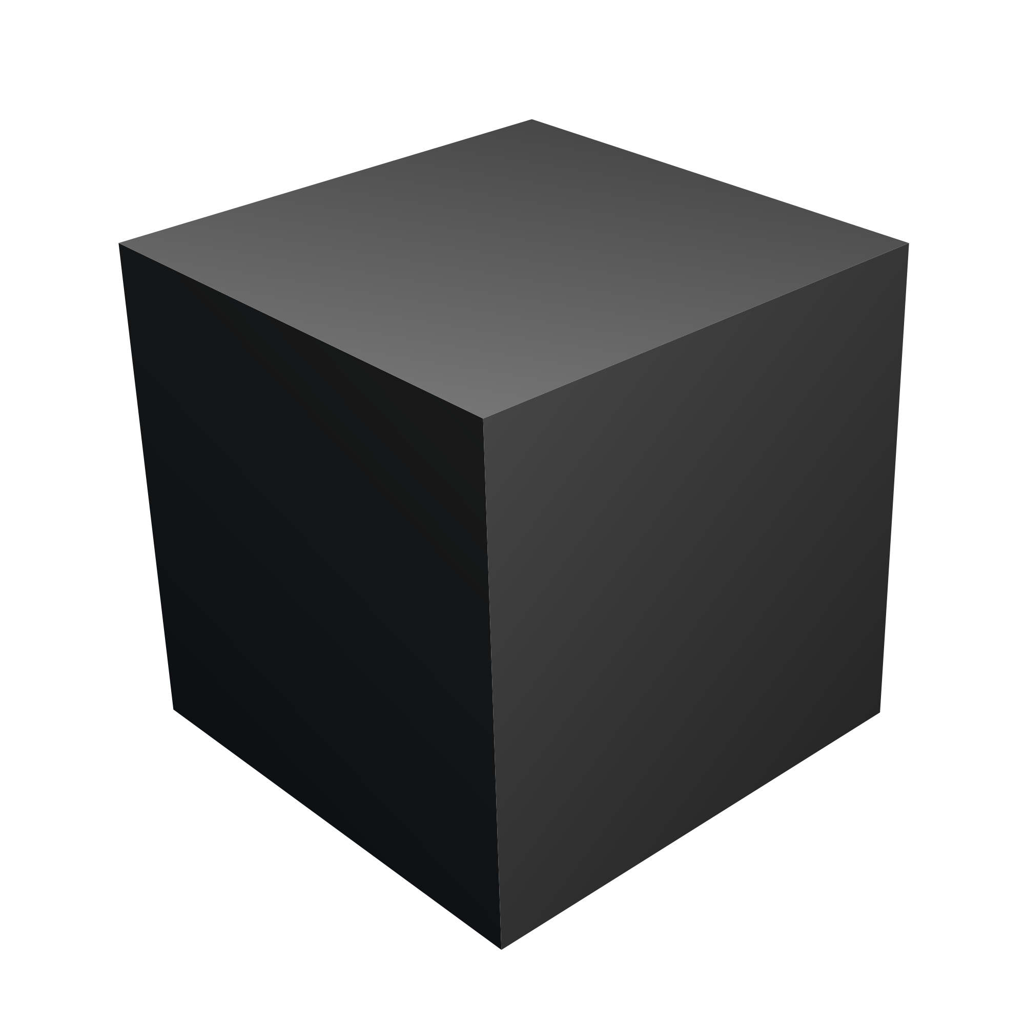 A 3d cube png. File with blender svg