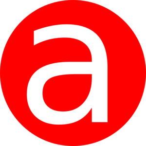 A clipart. Red rounded with clip