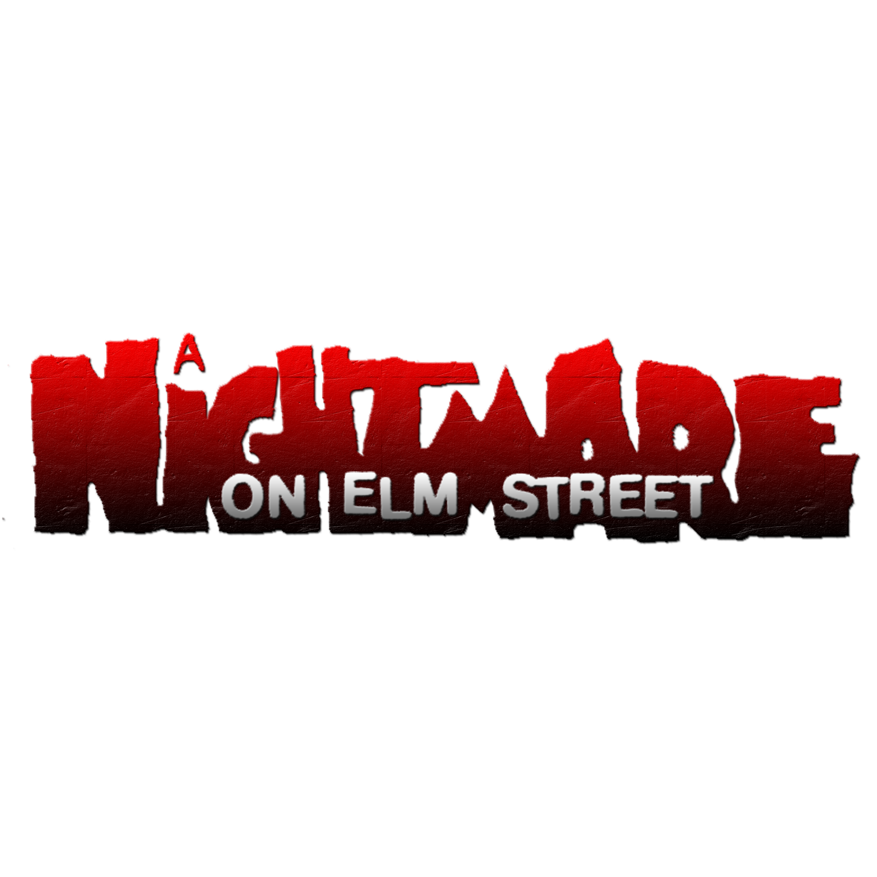 A nightmare on elm street png. Logo i recreated with