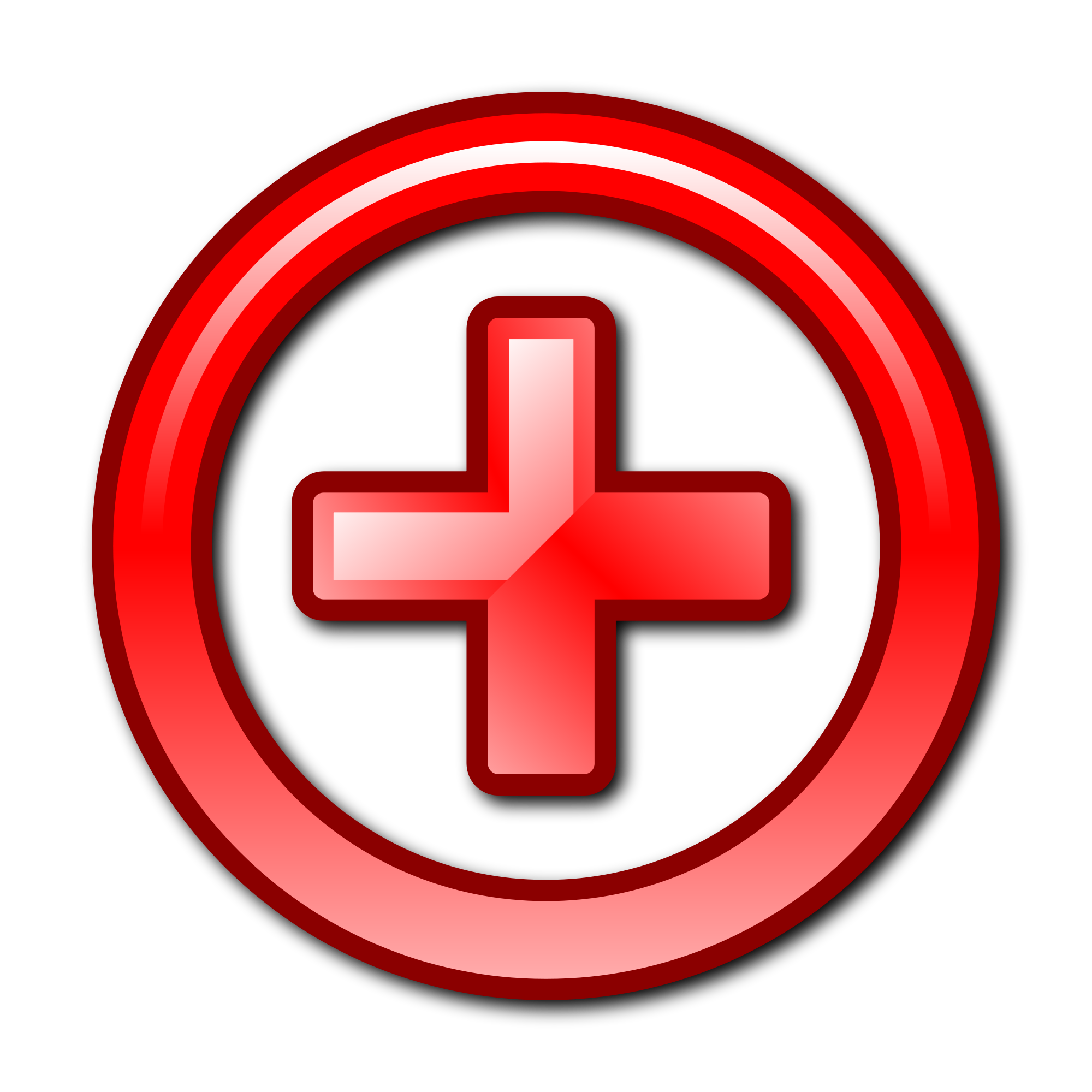red plus sign png
