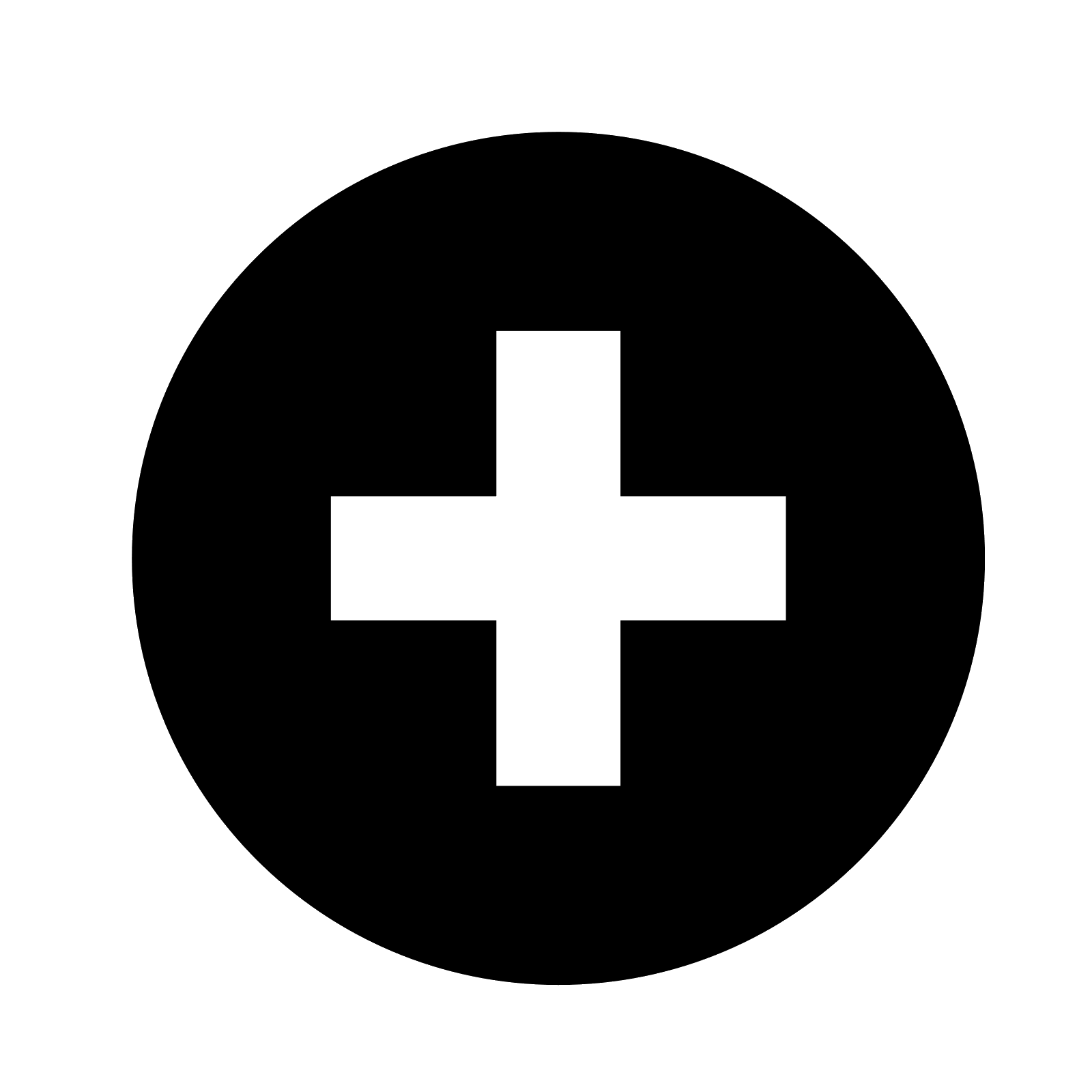 plus symbol black png