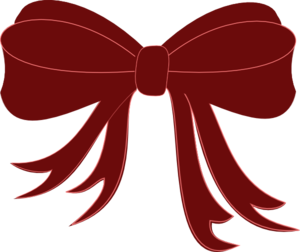 A34 clip maroon. Clipart bow pencil and