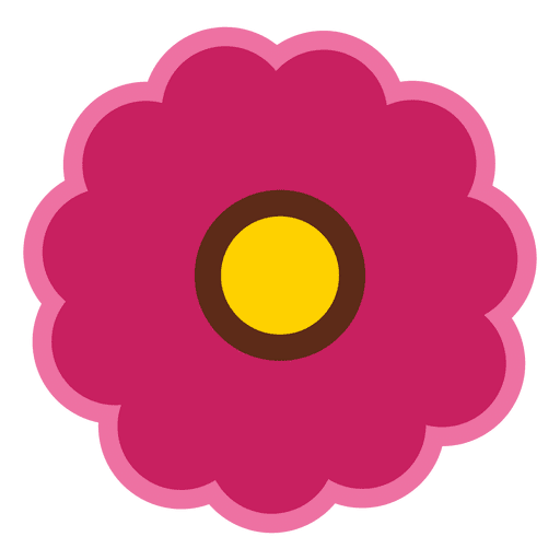 A34 clip maroon. Flower icon transparent png