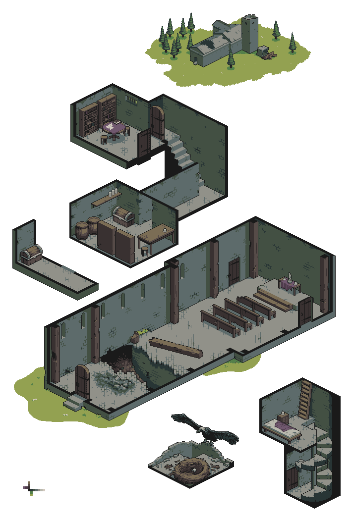Abandoned church png. Dungeon by skeddles on