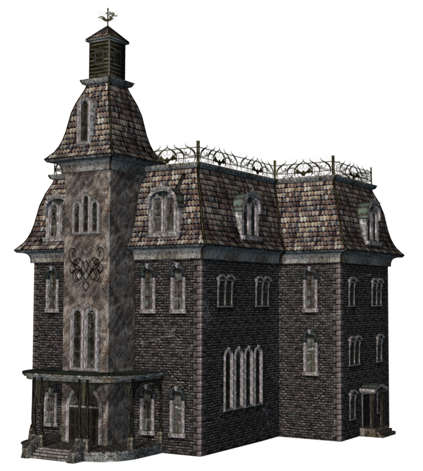 Abandoned church png. Haunted house by roy