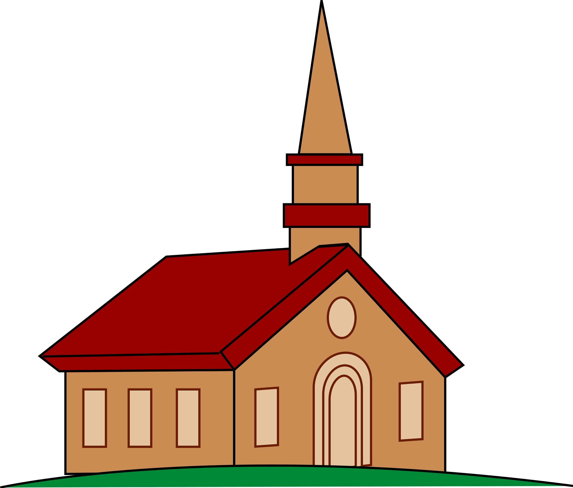 Abandoned church png. Silhouette clip art at