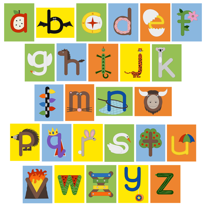Abc clipart letter week. Crafts for lowercase letters