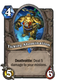 Abomination png wow. Ticking hearthstone wiki abominationpng