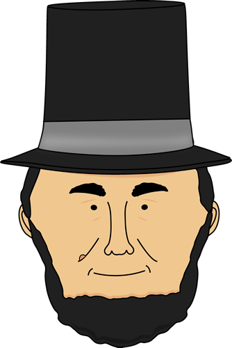 abraham lincoln clipart simple