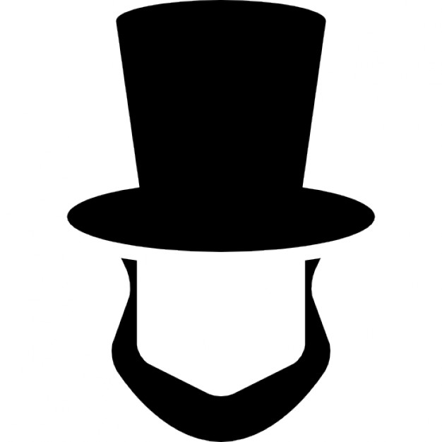 Abraham lincoln clipart template. Hat and beard shapes