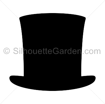 Abraham lincoln clipart template. Hat silhouette clip art
