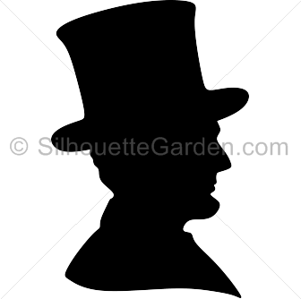 Hats clipart revolutionary war. Abraham lincoln silhouette clip