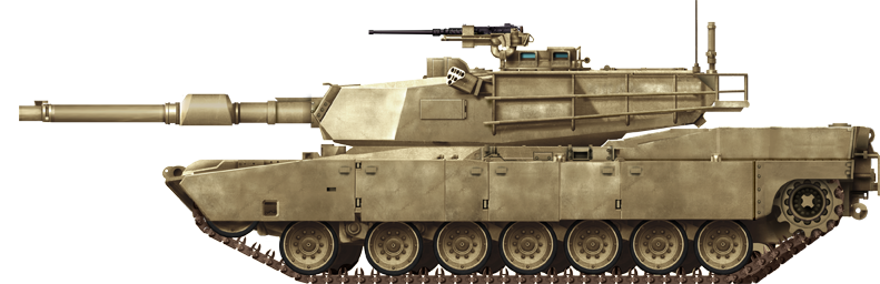 Transparent tank m1a2. M abrams ma of