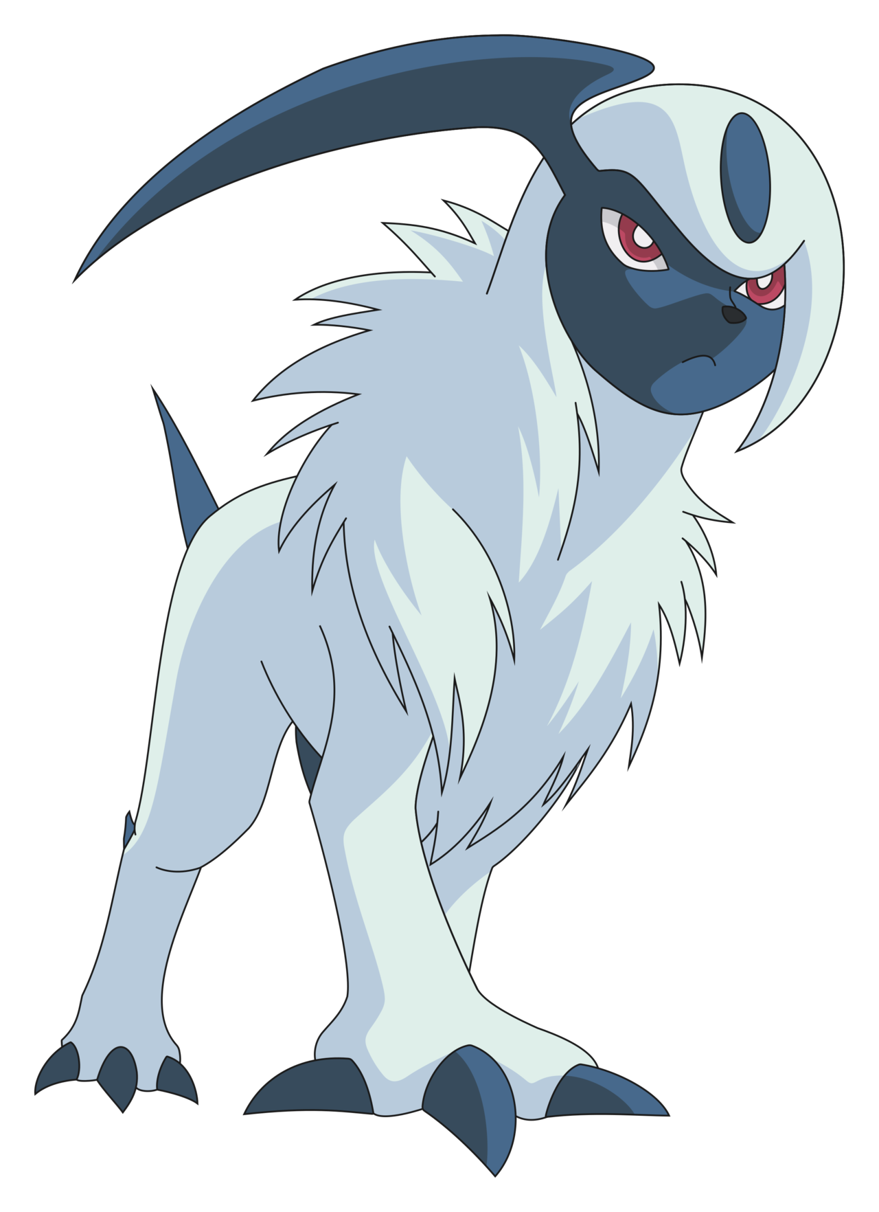 Absol transparent anime. By joalri on deviantart