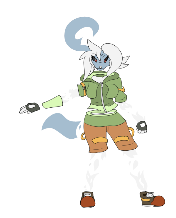 Absol transparent anthro. Spoopy by mitch kun