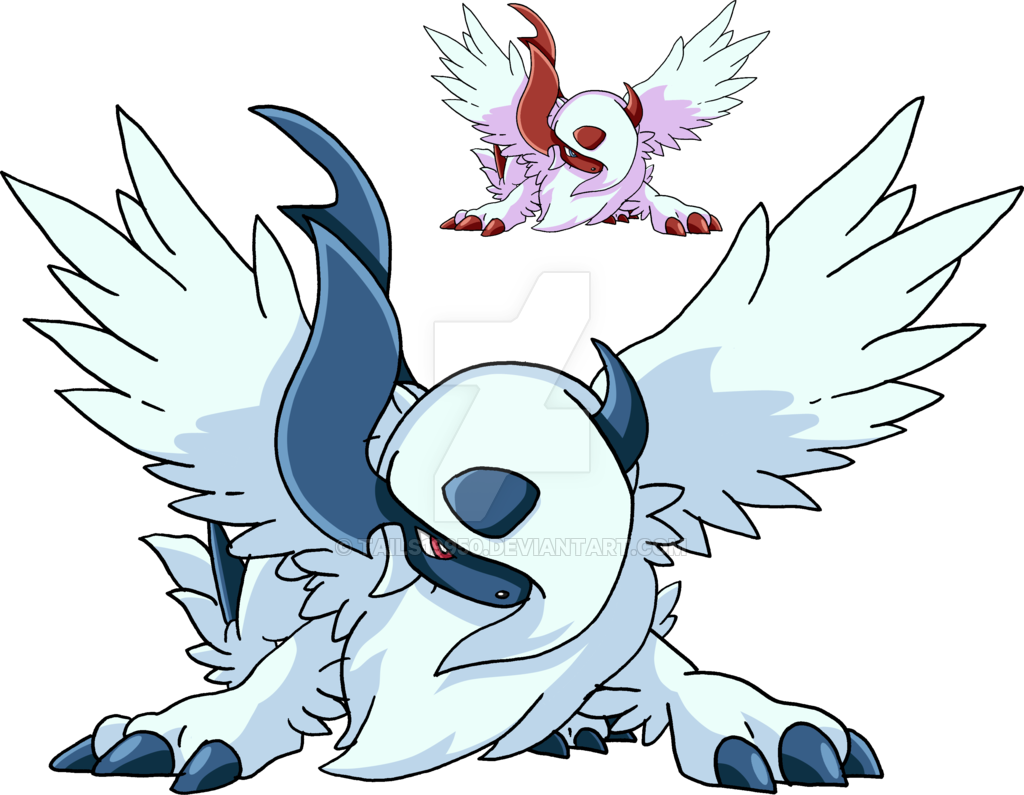 Absol transparent realistic. Mega by tails