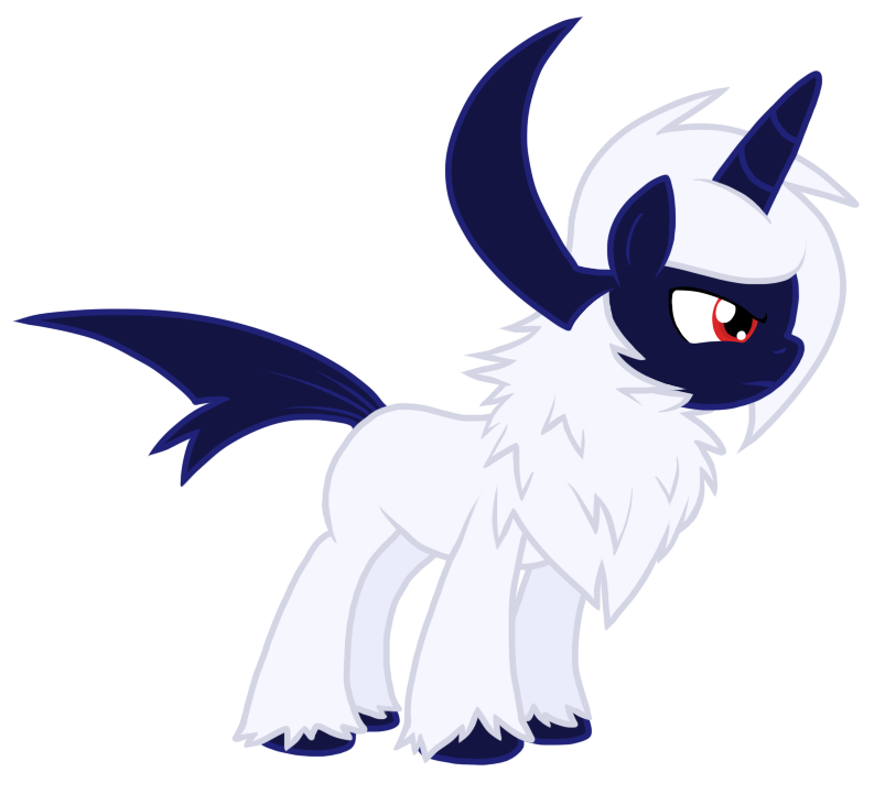 Absol transparent mlp. Pony by nukeleer on