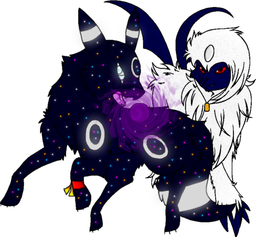 Absol transparent purple. Cosmic the starry umbreon