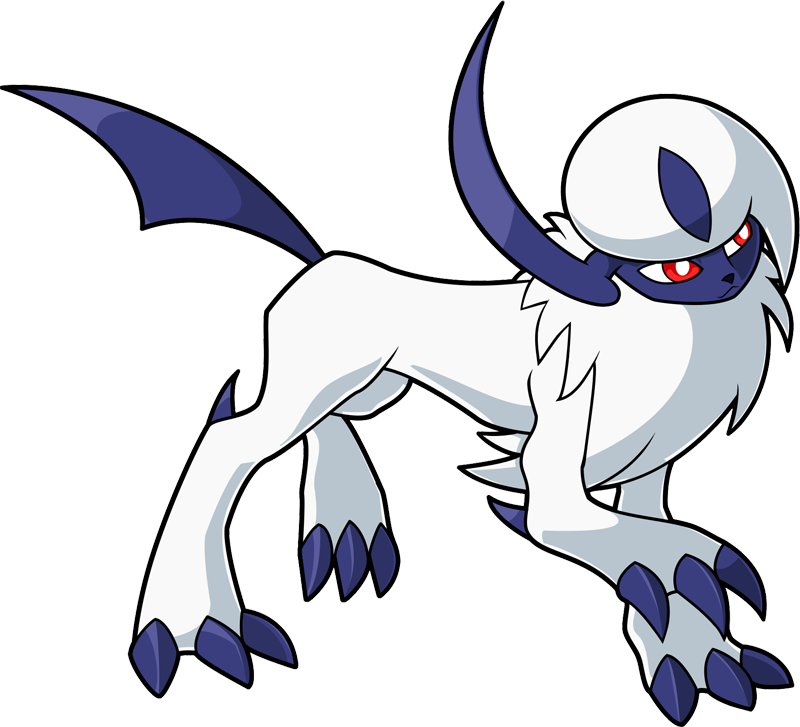 Absol transparent anime. Pokemon shiny pokedex evolution