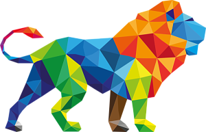 Abstract animal png. Lion by ompay disgen