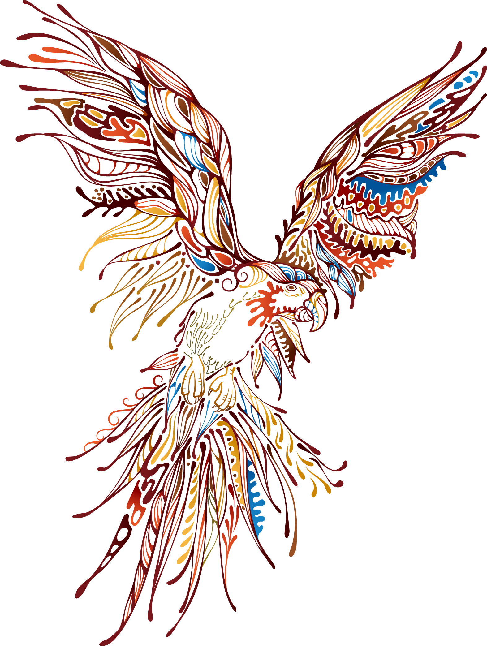 Abstract animal png. Art eagle printing transprent