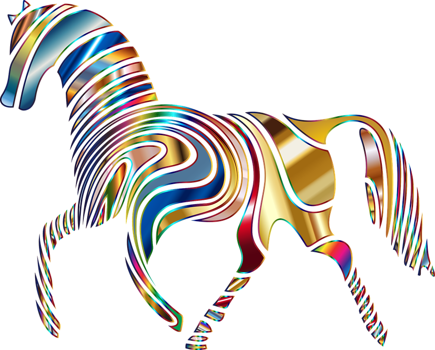 Abstract animal png. Free photo psychedelic equine
