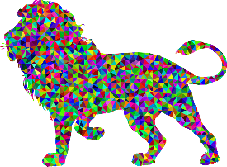 Abstract animal png. Image colorful prismatic chromatic