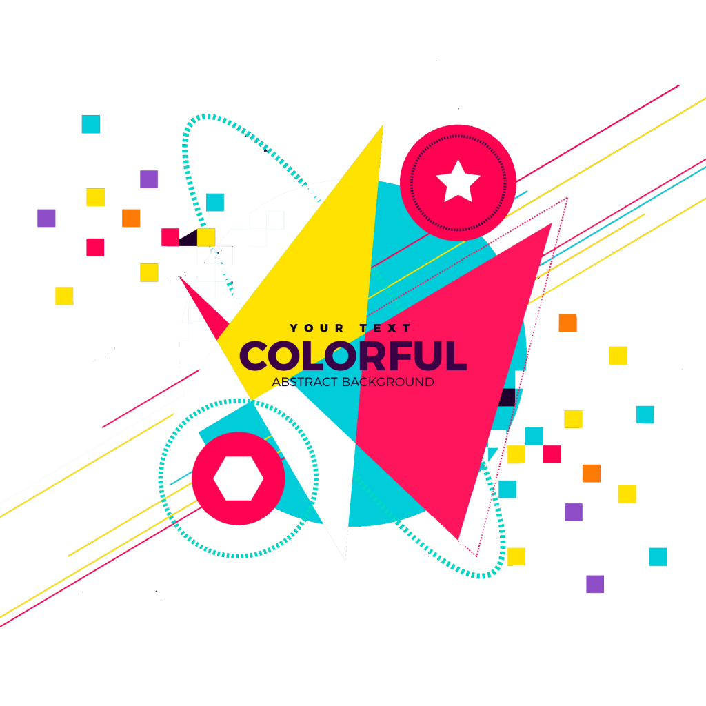 Colorful peoplepng com. Abstract background png clip transparent download
