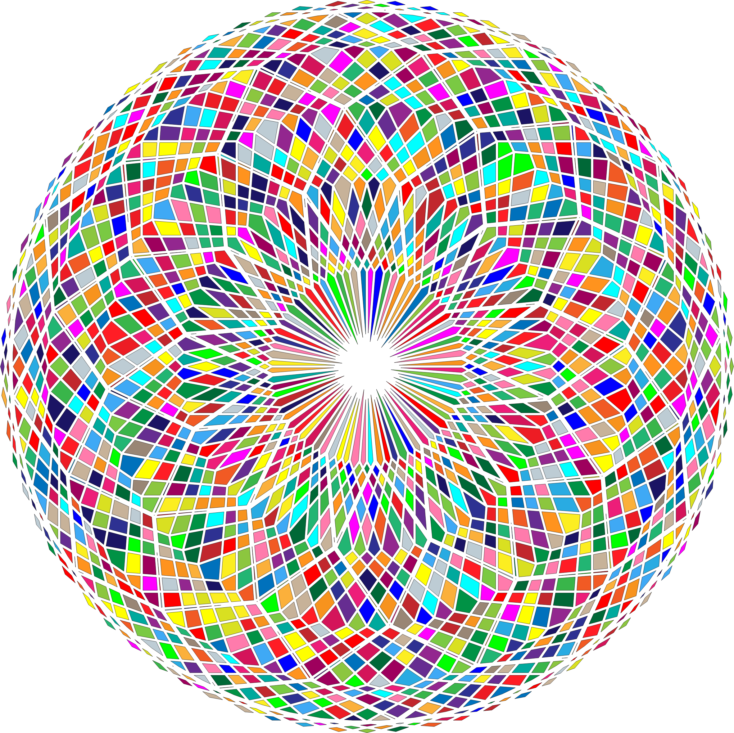 Abstract circle png. Colorful remix icons free