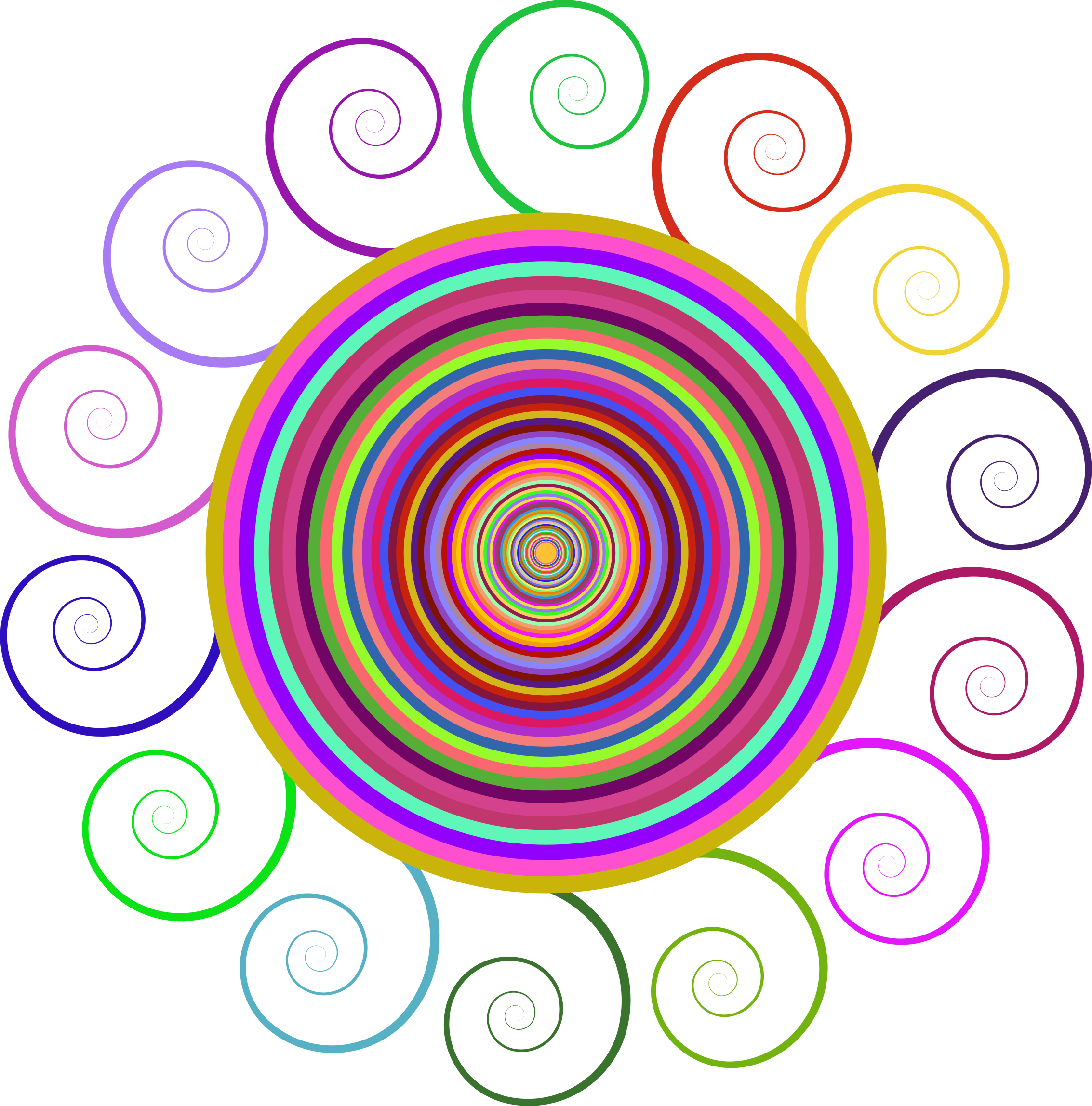 vector abstracts spiral