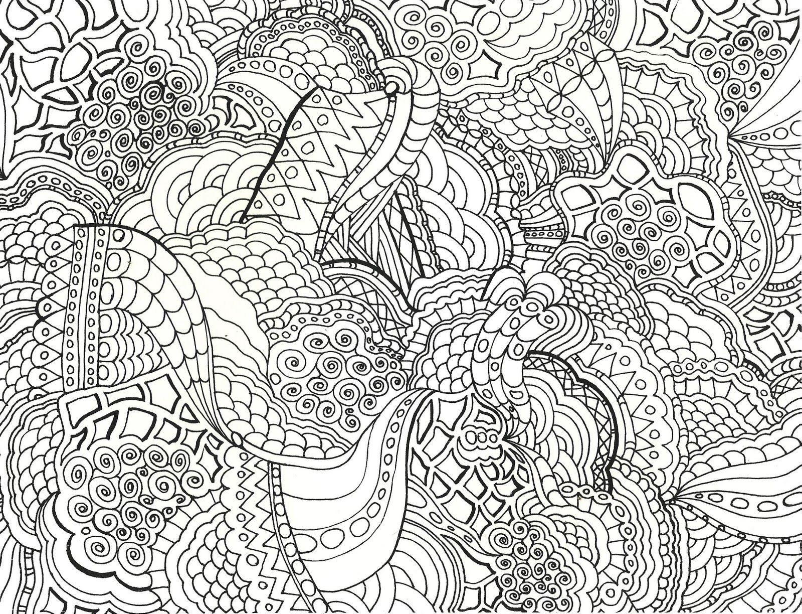 Abstract coloring. Adult pattern pages tagged
