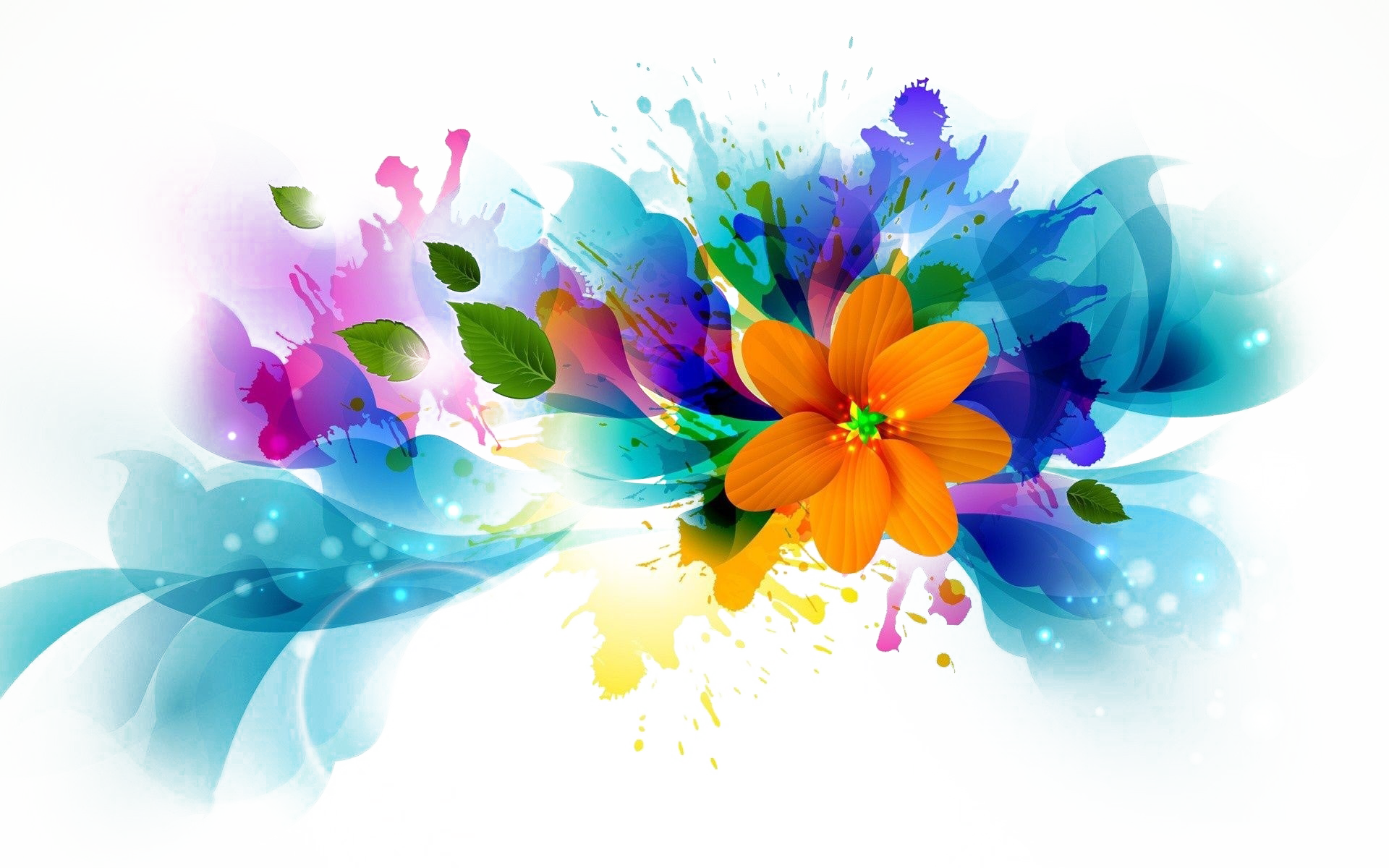 Abstract flowers png. Flower background image arts