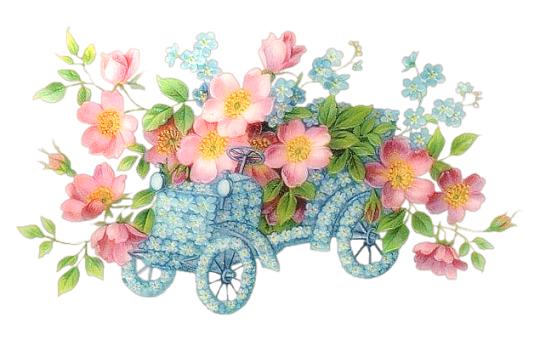 Abstract flowers png. Res car by hanabell