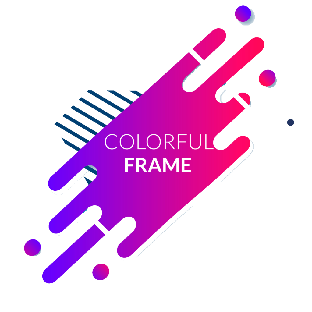 Abstract frames png. Colorful frame vector clipart