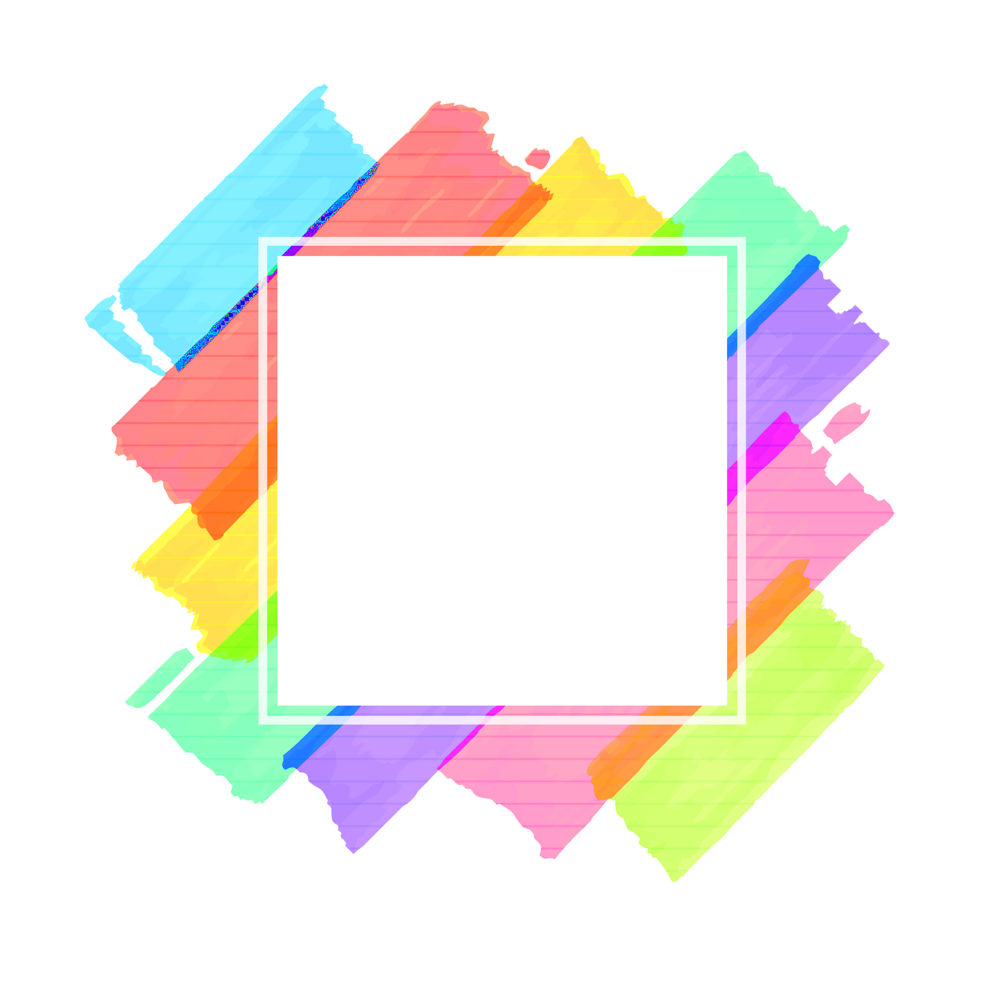 Abstract frames png. Colorful frame image peoplepng