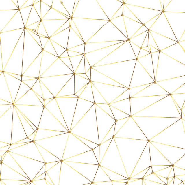 Abstract geometric lines png. Golden pattern and vector