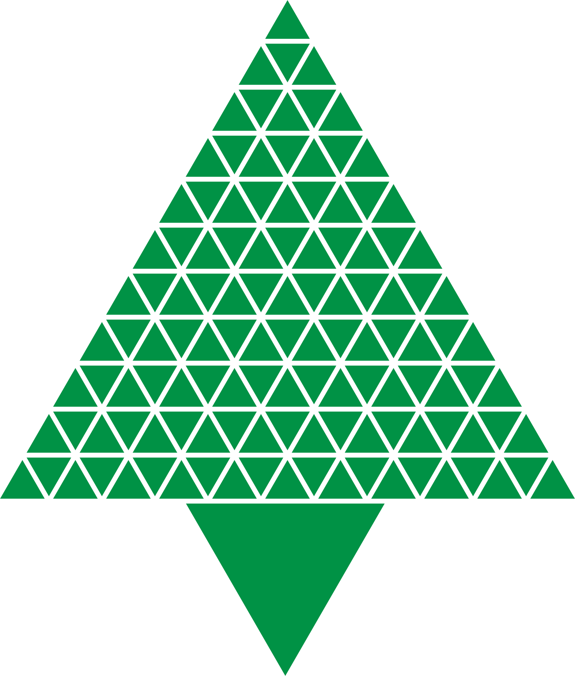 Abstract green png. Triangular christmas tree icons