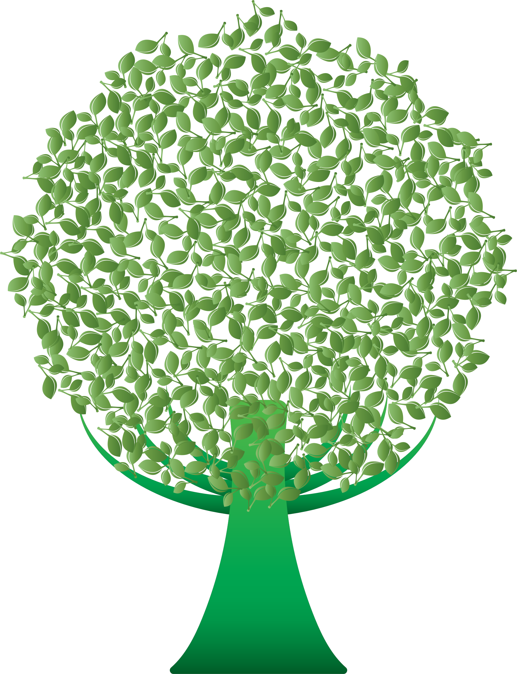 Tree icons free and. Abstract green png clipart transparent